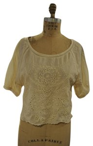 Ecote Bohemian Boho Top off white