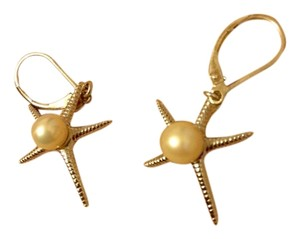Vantel Pearls Silver Starfish Pearl Earrings