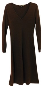 Brown Maxi Dress by Ralph Lauren V-neck Long Sleeve Cashmere