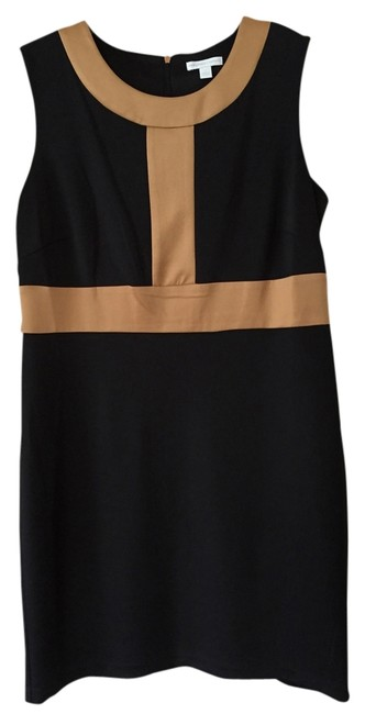 Preload https://item4.tradesy.com/images/new-york-and-company-blacktan-color-blocked-mid-length-workoffice-dress-size-12-l-3406978-0-0.jpg?width=400&height=650