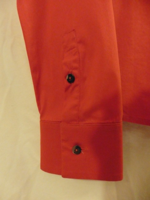 Jil Sander Button Down Shirt Red Orange
