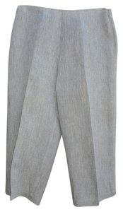 Eileen Fisher Capris Light grey with white weave