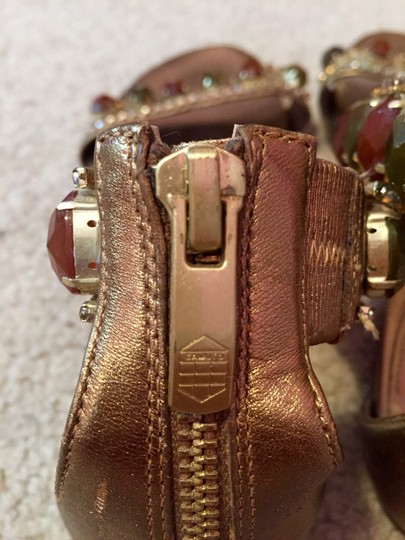 Vince Camuto Studded Flats Green Red Studded Gold Sandals