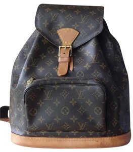 Louis Vuitton Montsouris Gm Lv Logo Travel School Backpack