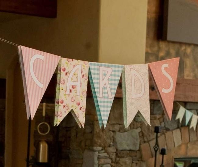 Item - Pink/Floral Banners Reception Decoration