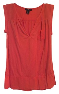 H&M Blouse Summer Pool Activewear Casual Night Out Top Orange