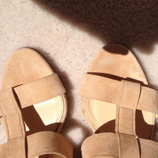 J.Crew Suede Pretty Soft nude Wedges
