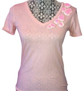 J.Crew Floral Light Comfortable T Shirt Pink