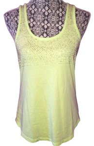Madewell Beaded Loose Comfortable Top Lime