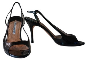 Manolo Blahnik Heels Sandal Leather black Sandals
