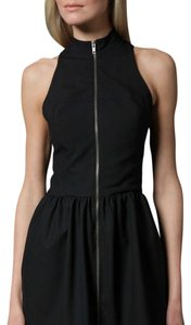 NOMIA short dress Black Nwot Sleeveless Front Zip Nyc Little on Tradesy