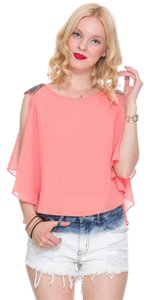 Foreign Exchange Coral Top Pink