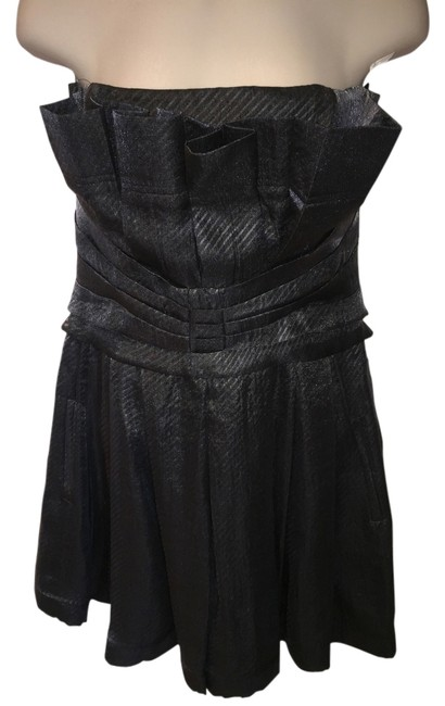 Item - Charcoal Grey Almost New Short Cocktail Dress Size 6 (S)