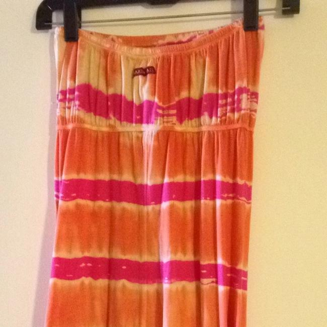 Pink & Orange Maxi Dress by Hard Tail