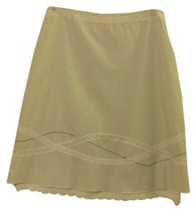 Cynthia Steffe Embroidery Lace Skirt White Pinstripe
