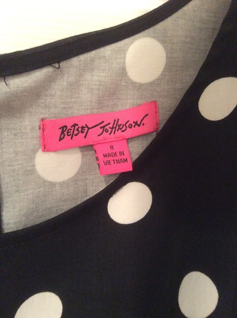 Betsey Johnson short dress Black & White Polka Dot on Tradesy