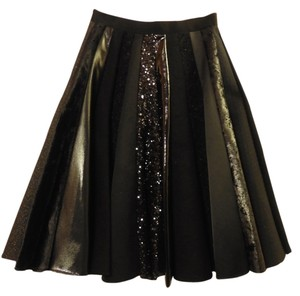Comme des Garons Mixed Materials Skirt Black
