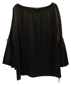 Givenchy Bellbottom Sleeves Silk Top Black