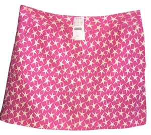 J.Crew Nautical Preppy Mini Mini Skirt Pink White