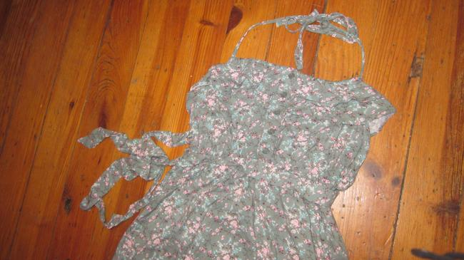 Other short dress Green floral Halter on Tradesy