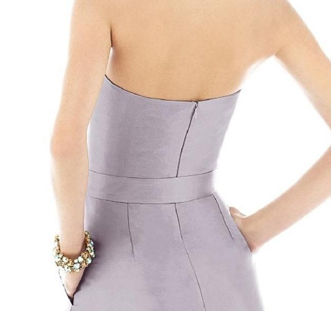 Alfred Sung Tea Length Silk Blend Strapless With Tags Dress