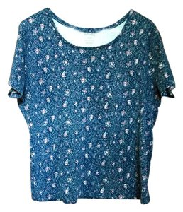 White Stag Free Shipping New Gift T Shirt Blue Floral