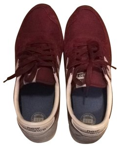New Balance Men's 420 Suede Trainers Retro Lace Up Maroon Athletic