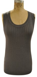 Rachel Roy Knit Sweater Racerback Top Gray