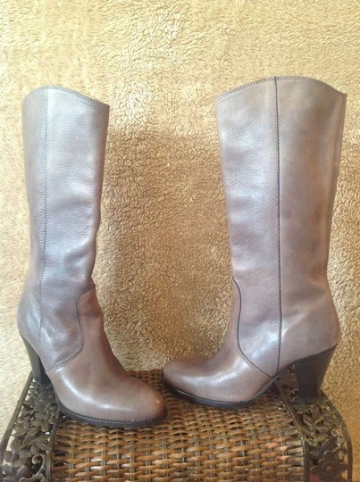 DAVOS GOMMA Taupe with black heel Boots