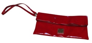Dooney & Bourke Red Patent Leather Clutch