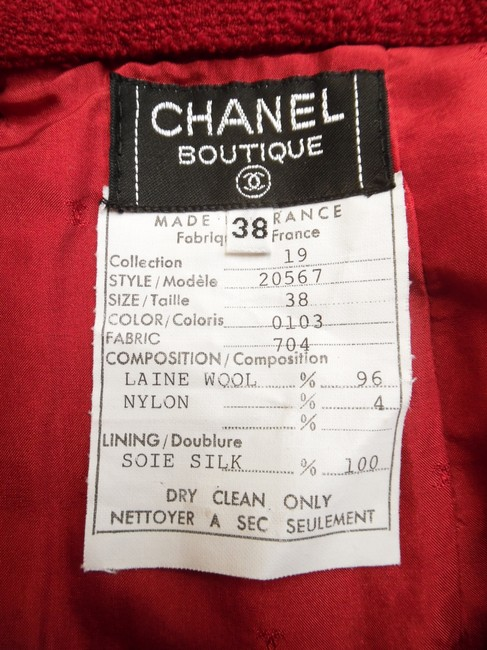 Chanel Skirt Red