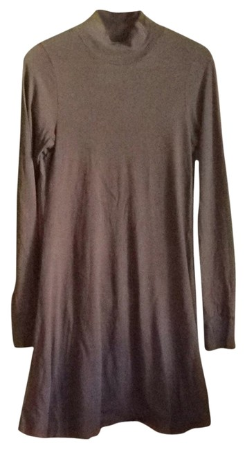 Velvet by Graham & Spencer Brown Knit Mock Turtleneck Knee Length Short Casual Dress Size 8 (M) Velvet by Graham & Spencer Brown Knit Mock Turtleneck Knee Length Short Casual Dress Size 8 (M) Image 1