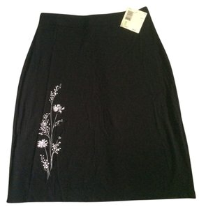 Liz Claiborne New Stretch Knit Skirt Black