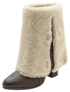Belle by Sigerson Morrison Brown With Tan Shearling Boots