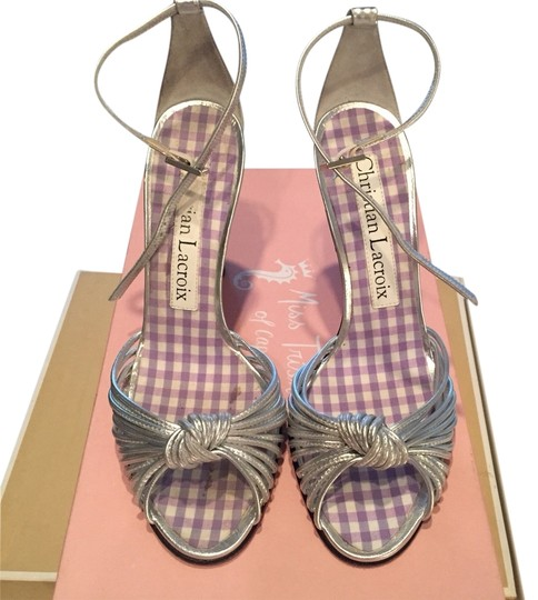 Preload https://item3.tradesy.com/images/christian-lacroix-silver-sandals-3413032-0-0.jpg?width=440&height=440