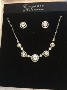 Elegance By Carbonneau Silver Plated Cubic Zirconia Wedding Jewelry Set