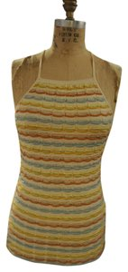 M Missoni Top Off White, Mint Green, Dark and Pale Yellow, Terracotta, Muted Salmon, Pale Blue