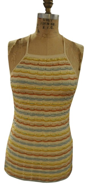 M Missoni Top Off White, Mint Green, Dark and Pale Yellow, Terracotta, Muted Salmon, Pale Blue Image 0
