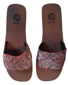Yellow Box Footwear Sequins Comfortable Multi-colored Flats
