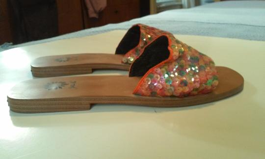 Yellow Box Footwear Sequins Comfortable 6.5 Multi-colored Flats