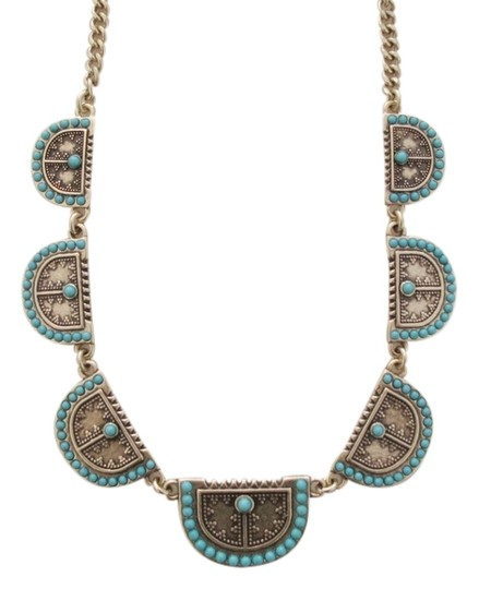 Lucky Brand BRAND NEW! Lucky Brand Gold-tone Turquoise Shield Collar Necklace
