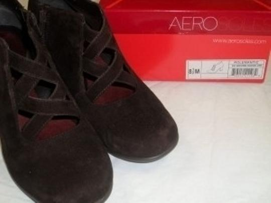 Aerosoles Pumps Ankle Low Fine Leather Sexy Fall Winter Night Date Edgy Suede Brown Boots