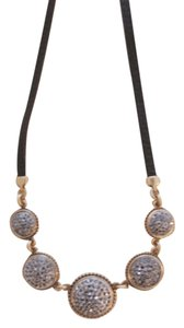 Lucky Brand BRAND NEW! Lucky Brand Two-Tone Pave Leather Necklace