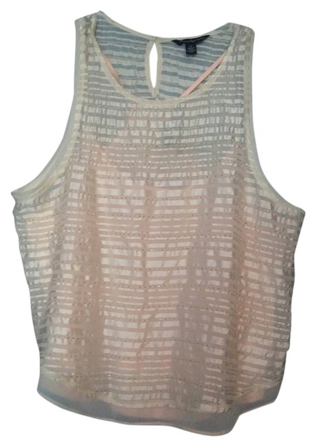 American Eagle Outfitters Top White/Pink