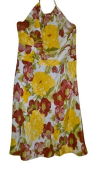 Preload https://img-static.tradesy.com/item/34144/ann-taylor-loft-yellow-floral-silk-halter-knee-length-short-casual-dress-size-petite-2-xs-0-0-650-650.jpg