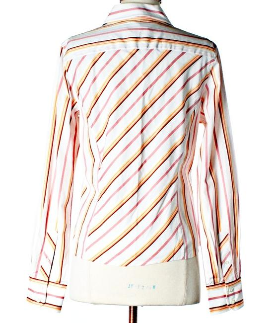 Façonnable Striped Designer Button Down Shirt Pastel