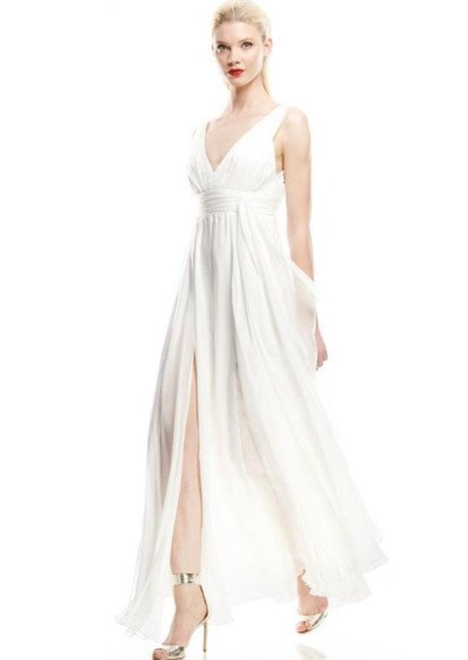 A B S By Allen Schwartz Ivory Silk Special Occasions Collection Destination Wedding Dress Size 0 Xs