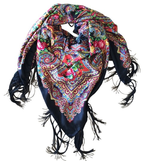 Made in dubai Silk and Fringe Scarf