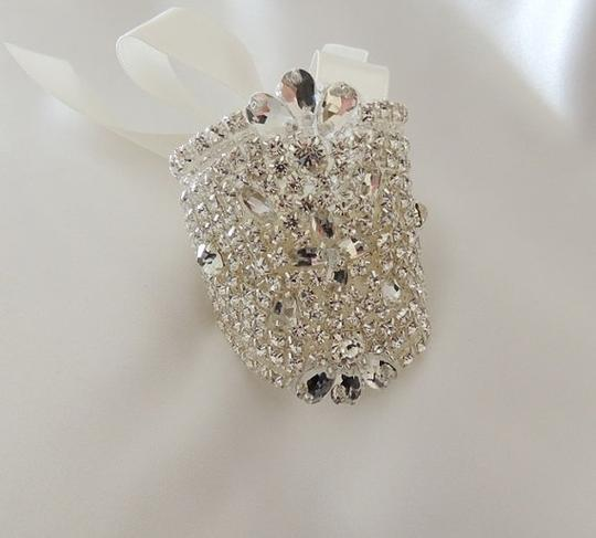 Bridal Bouquet Jewelry Crystals Beaded Embellishment Wrap