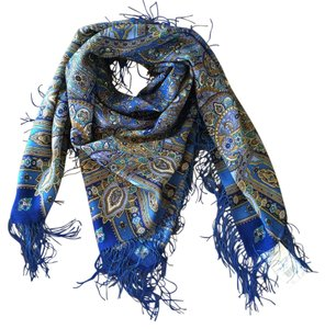 Platkiru Made in russia Wool Blue Scarf